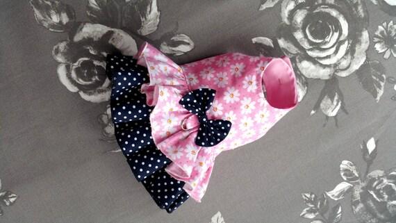 Vestido de perro pequeño cachorro Yorkie de sueño rosa