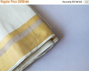 15% OFF 1 yard of South Cotton Fabric, Handwoven Fabric, Indian Cotton Fabric, Indian Fabric, Ethnic Fabric, Off-White Fabric