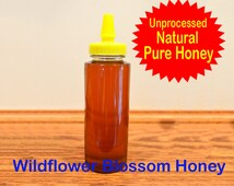 100% Pure Raw Ohio Wildflower Blossom Honey in 12 oz. Squeeze Bottle