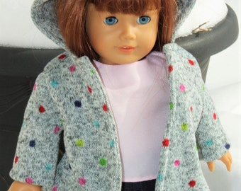 18 inch doll coat, doll jacket, doll coat, 18 inch doll coat fits like american girl doll clothes, american girl outfits, baby doll clothes