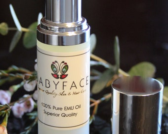 Babyface Skin Care 100% Pure Emu Oil, 1.3 oz.