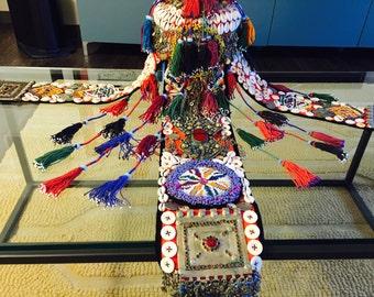 Formal Antique Tribal Celebration Hat HUGE
