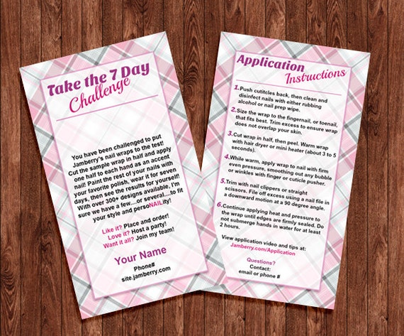 Jamberry Application Instructions Printable
