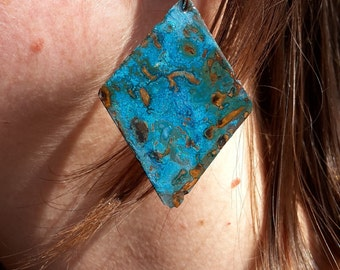 Blue copper earrings by 10enzo