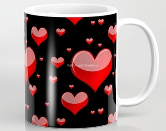Red Hearts Mug, 4 Types Available!