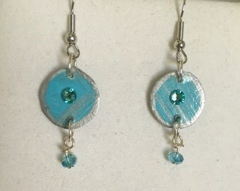Earrings , Round, with Dangles