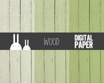 Wood Moss Green Digital Paper - Commercial & Personal Use