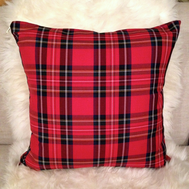 tartan plaid pillow cover christmas plaid by. Black Bedroom Furniture Sets. Home Design Ideas