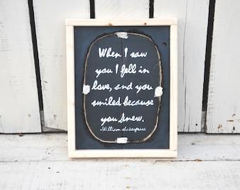 Romantic quote sign