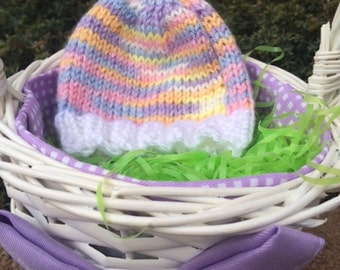 Pink and Purple Baby Hat/Spring Colors Baby Hat/Spring Baby Accessories/Easter Baby Girl Hat/Holiday Baby Hats/Easter Baby Girl Hat