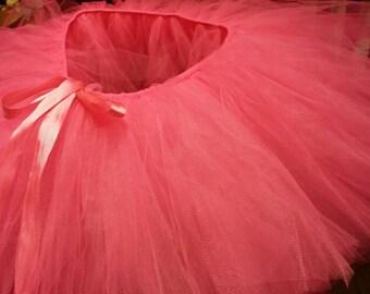 Pink tutu with pink ribbon