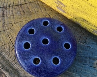 Weller Flower Frog, Cobalt Blue, Vintage