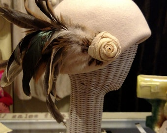 Cool funky feather hat
