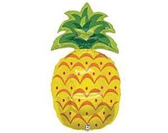 "Sparkling pineapple balloon. 30"".  Large pineapple party balloon.  Fruit party balloons.  Tropical party decor.  Fruit balloon.  Fruit decor"