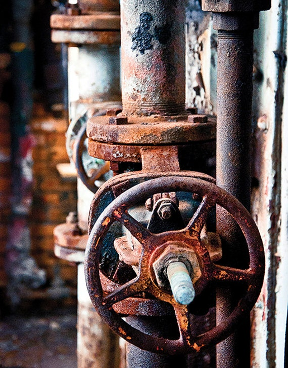 Duquesne Steel Mill, Gear, Crank, Wood Print, Abandoned, Urban Exploration, Rust, Wall Art, Pittsburgh, Pennsylvania, Industrial, Rustic