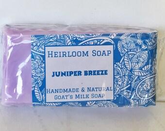 Juniper Breeze Goat's Milk Soap - Juniper Berry Soap - Handmade Goat's Milk Soap - Handmade Soap - All Natural Soap - Goat Milk Soap