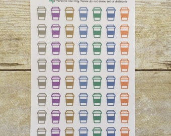 Coffee to Go Planner Stickers box05