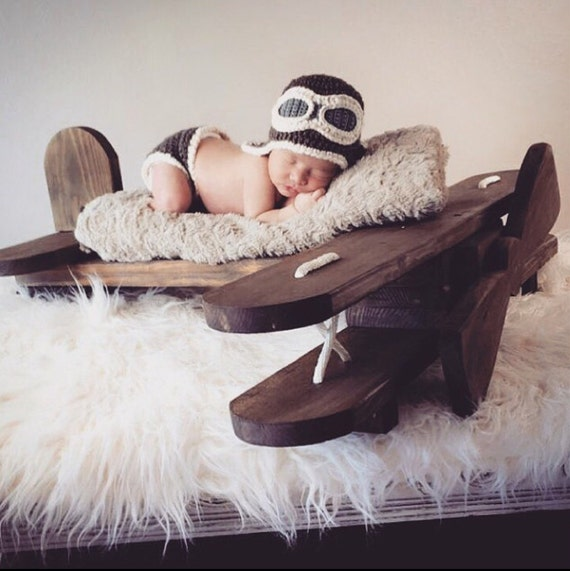 Newborn Infant Aviator Pilot Hat Baby Aviator Hat Infant