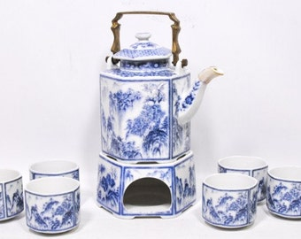 Vintage Japanese Tea set with Cups