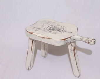 milking stool-vintage stool-stool milking-cow bench-farm stool- milk stool-farm decor-primitive-rustic stool-cow decor-stool-farm bench-