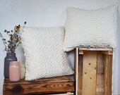 Pillowcase - Chunky Woven Pillowcasw - 100% Merino Wool Pillow Cover