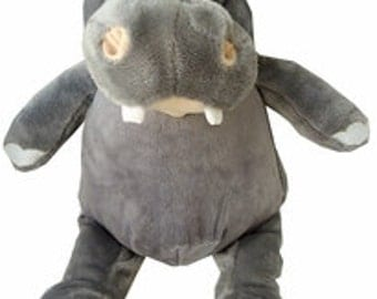 Baby Cubbie Custom Embroidered Plush Hippo