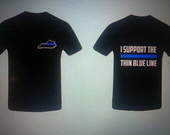Kentucky thin blue line shirt