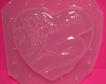 Octopus Tentacle Heart Plastic Mold For Resin SSM Exclusive Design