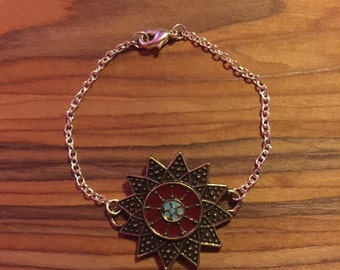 Red Sunflower Bracelet