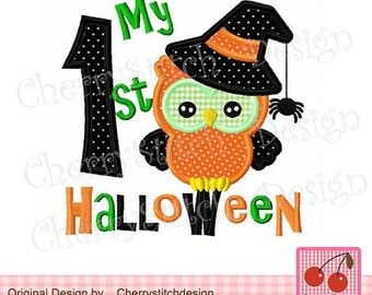 My 1st Halloween Onesie - Owl with Witch Hat