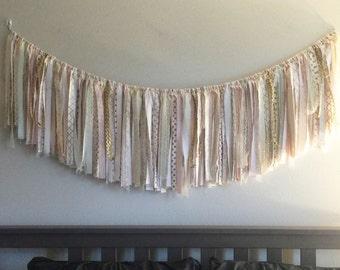 Custom Fabric Garland // Nursery Garland // ChloeLength // Nursery Decor // Party Decor // Wedding Decor // Wall Decor // Custom Colors