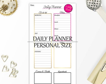 Daily planner lady boss, Personal planner inserts, Girl boss, Printable planner pages, Daily planner printable