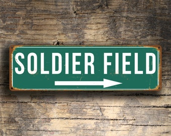 SOLDIER FIELD Sign,Vintage style Soldier Field Sign, Soldier Field Stadium Sign,Soldier Field, Chicago Bears, NFL Signs, Football Gifts
