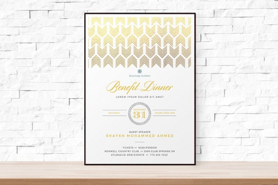 Diy printable event flyer template formal gala invitation for 11x17 poster template photoshop