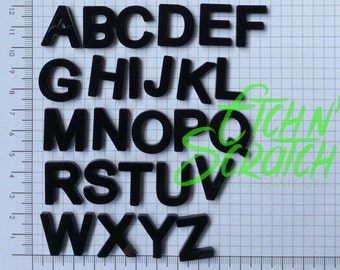 1 full Alphabet capital letters 2cm tall acrylic