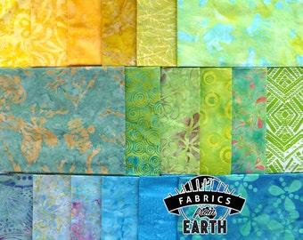 Summer Breeze Batik 18 Fat Quarter Bundle - Quilting Fabric