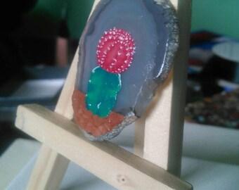Cactus agate painting