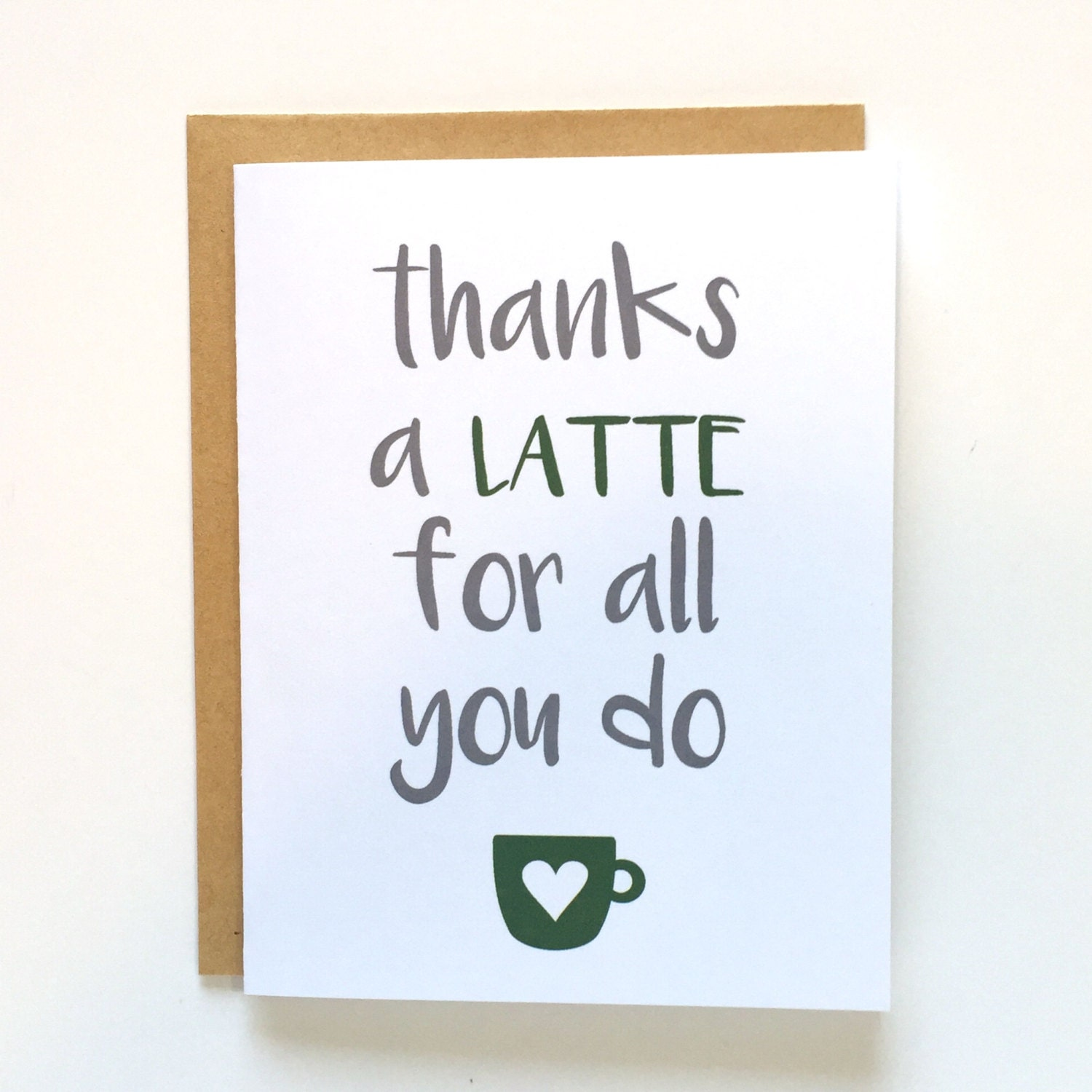 Thanks a latte for all you do teacher by littlethingsworkshop Thanks for all you do gifts