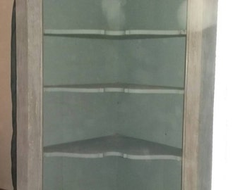 Painted Victorian  Corner Cupboard