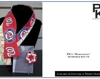 """PK's """"Washington"""" Reversible Freestyle Bow Tie"""