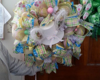 Top Hat and Tails Easter Wreath