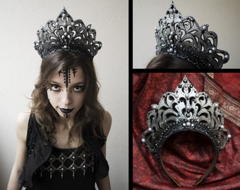 Costume tiara headdress headdress Crown Queen of darkness crown tribal fantasy