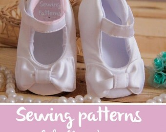 Pdf sewing patterns for children/ white party accesory for girl / christening shoes girls/ girls clothes  / girls dress shoes PATTERN 39