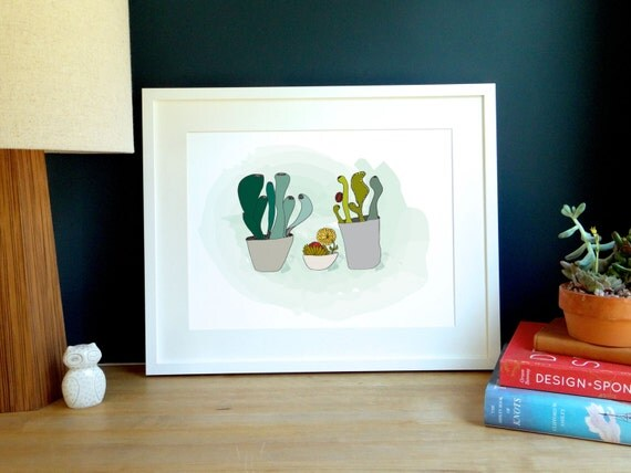 Abstract Succulent Archival Print
