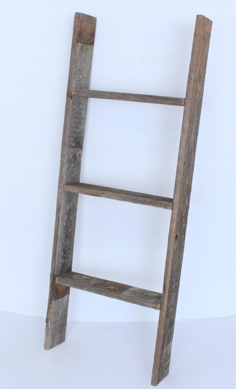 Barnwoodusa 3 ft bookcase ladder 100 reclaimed by - Reclaimed wood ladder shelf ...