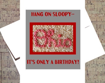 Ohio State Card, Buckeye Card, Funny Birthday Card, OSU, Scarlet And Gray, Ohio State Buckeyes, Birthday Card, Funny Card, Cereal