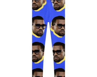 Blue Yeezy Leggings