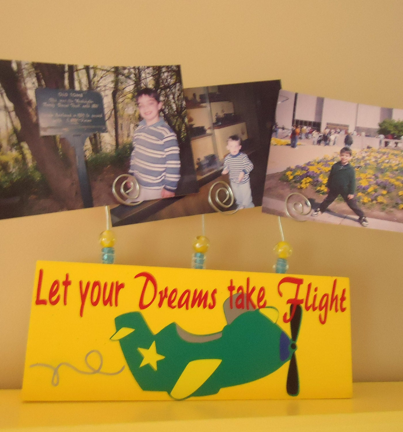 Let your dreams take flight picture frame with wire holders 1500 jeuxipadfo Image collections