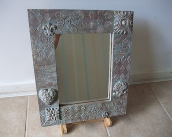 up cycled frame mirror,square wooden frame,very  unique decoration,wall mirror,home decor