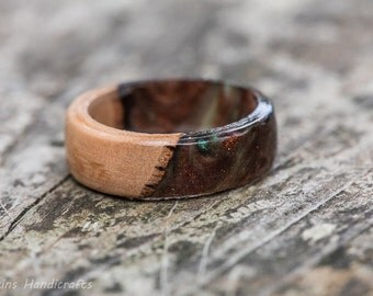 Handcrafted Wood Rings By Hawkinshandicrafts On Etsy
